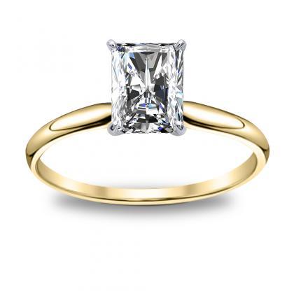 Resultado de imagen para radiant engagement rings yellow gold