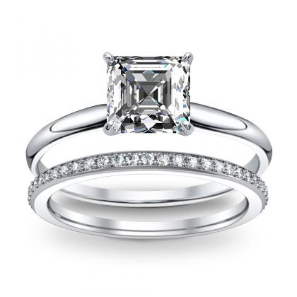 Solitaire Bridal Wedding Ring Sets