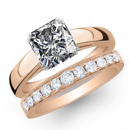 0.7ct. natural diamond princess cut solitaire engagement ring  18k rose gold gia