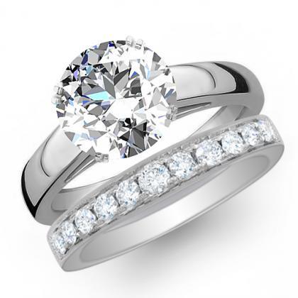 3.085ct. natural diamond round cut solitaire engagement ring  platinum gia