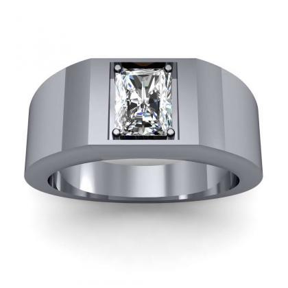 1.2ct. natural diamond radiant cut 4mm thick shank solitaire natural diamonds anniversary ring platinum gia
