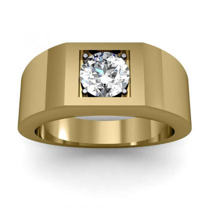 2.2ct. natural diamond round cut 4mm thick shank solitaire natural diamonds anniversary ring 18k yellow gold gia