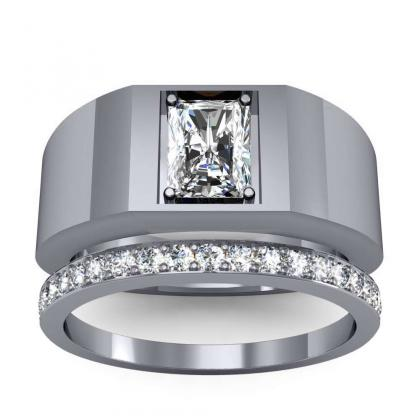0.7ct. natural diamond radiant cut 4mm thick shank solitaire natural diamonds anniversary ring 18k white gold gia