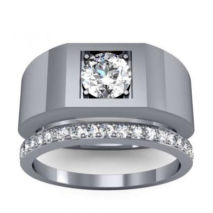 2.2ct. natural diamond round cut 4mm thick shank solitaire natural diamonds anniversary ring 18k white gold gia