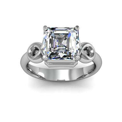 Knots Solitaire Engagement Rings
