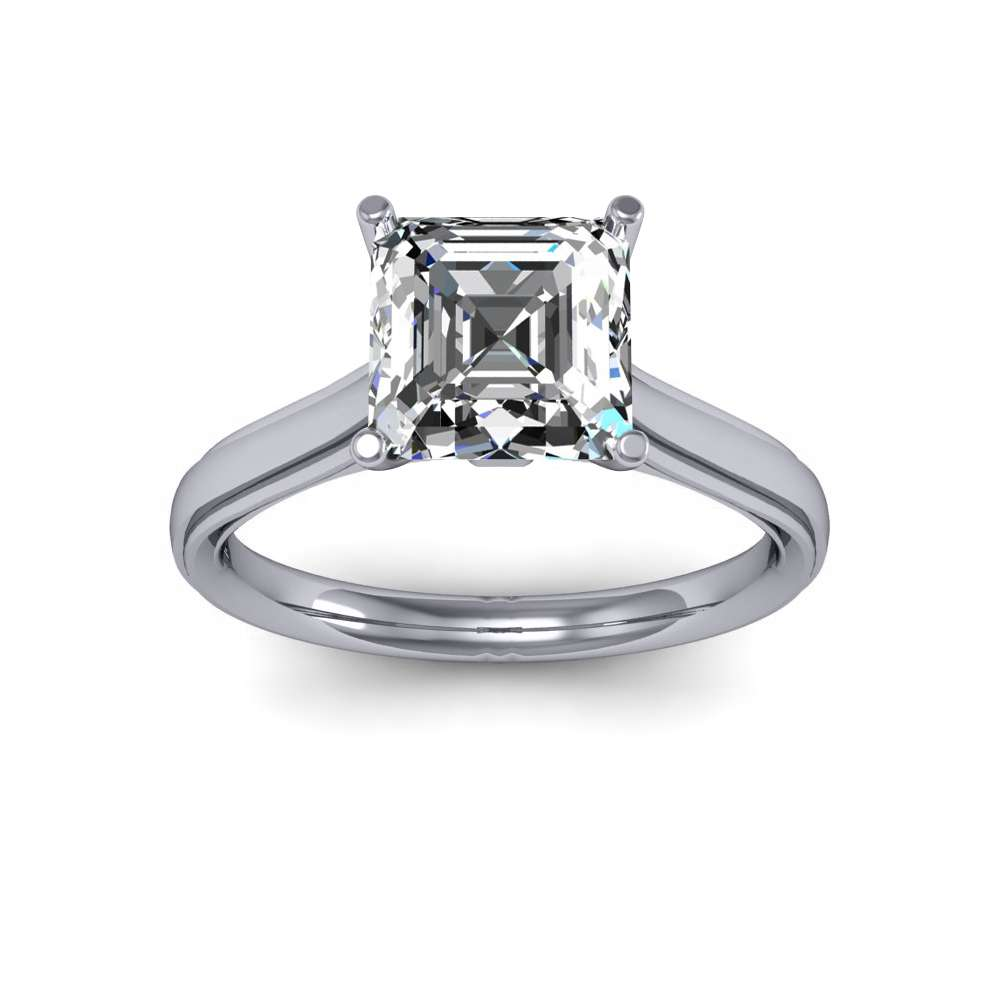 2.5mm Prong Setting Solitaire Natural Diamonds Ring