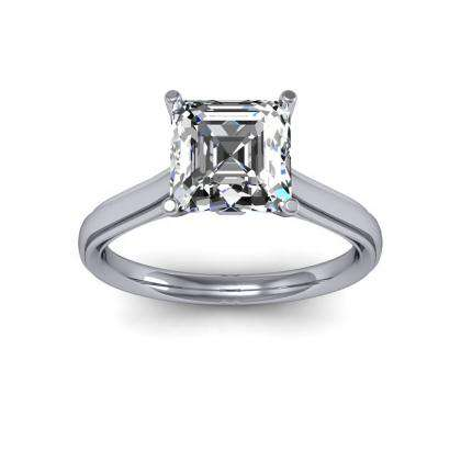 Simple Solitaire Engagement Rings