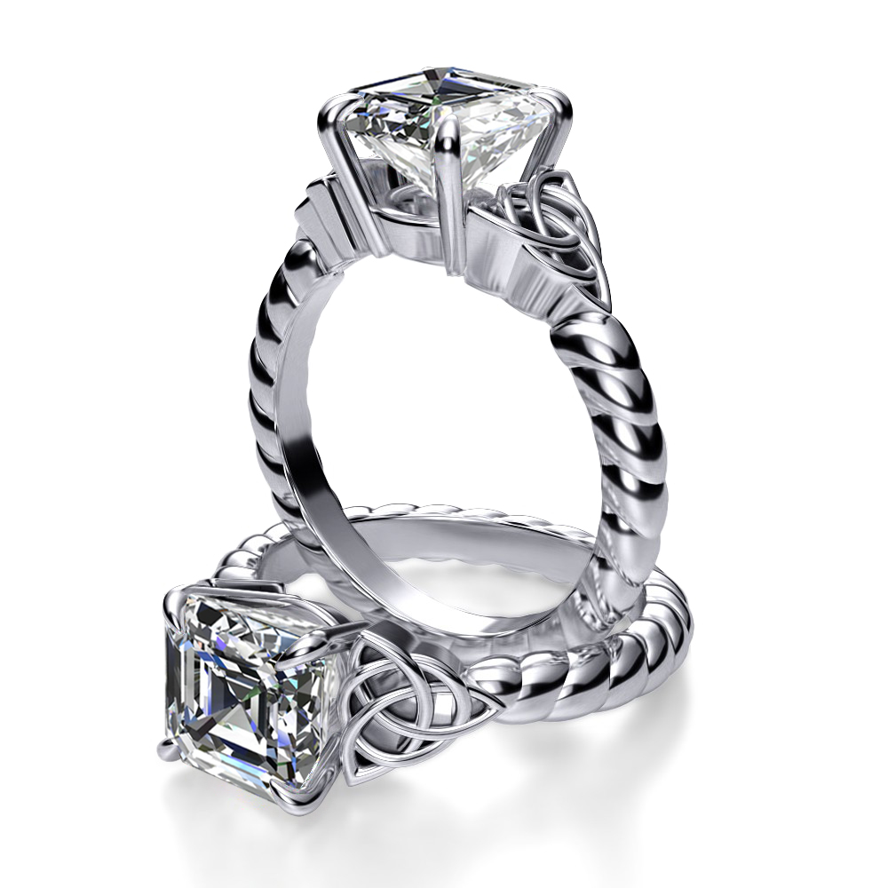 Engagement Rings Knot: Celtic Knot Rope Design Engagement Ring