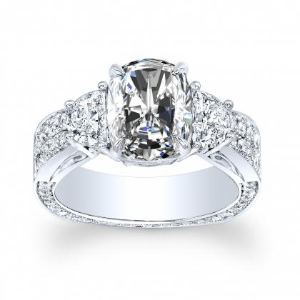 Euro Shank Radiant cut Engagement Rings