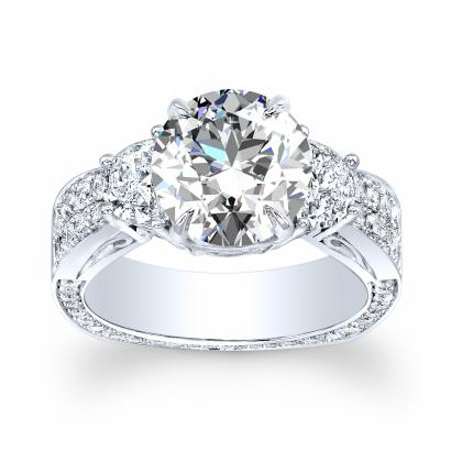 Euro Shank Round cut Engagement Rings