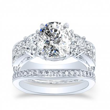 Euro Shank Bridal Wedding Ring Sets