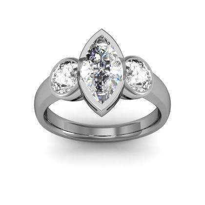 marquise cut three stone engagement rings. Black Bedroom Furniture Sets. Home Design Ideas