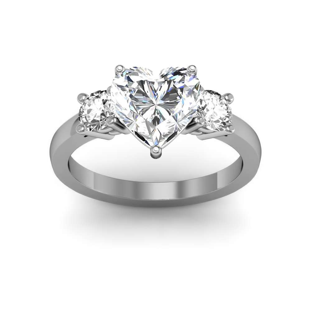 classic ring diamond side prong with rings engagement cut