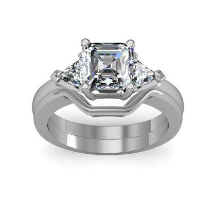 Trillion Accents Bridal Wedding Ring Sets