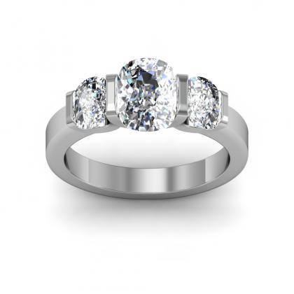 Art Nouveau Bezel Set Engagement Rings