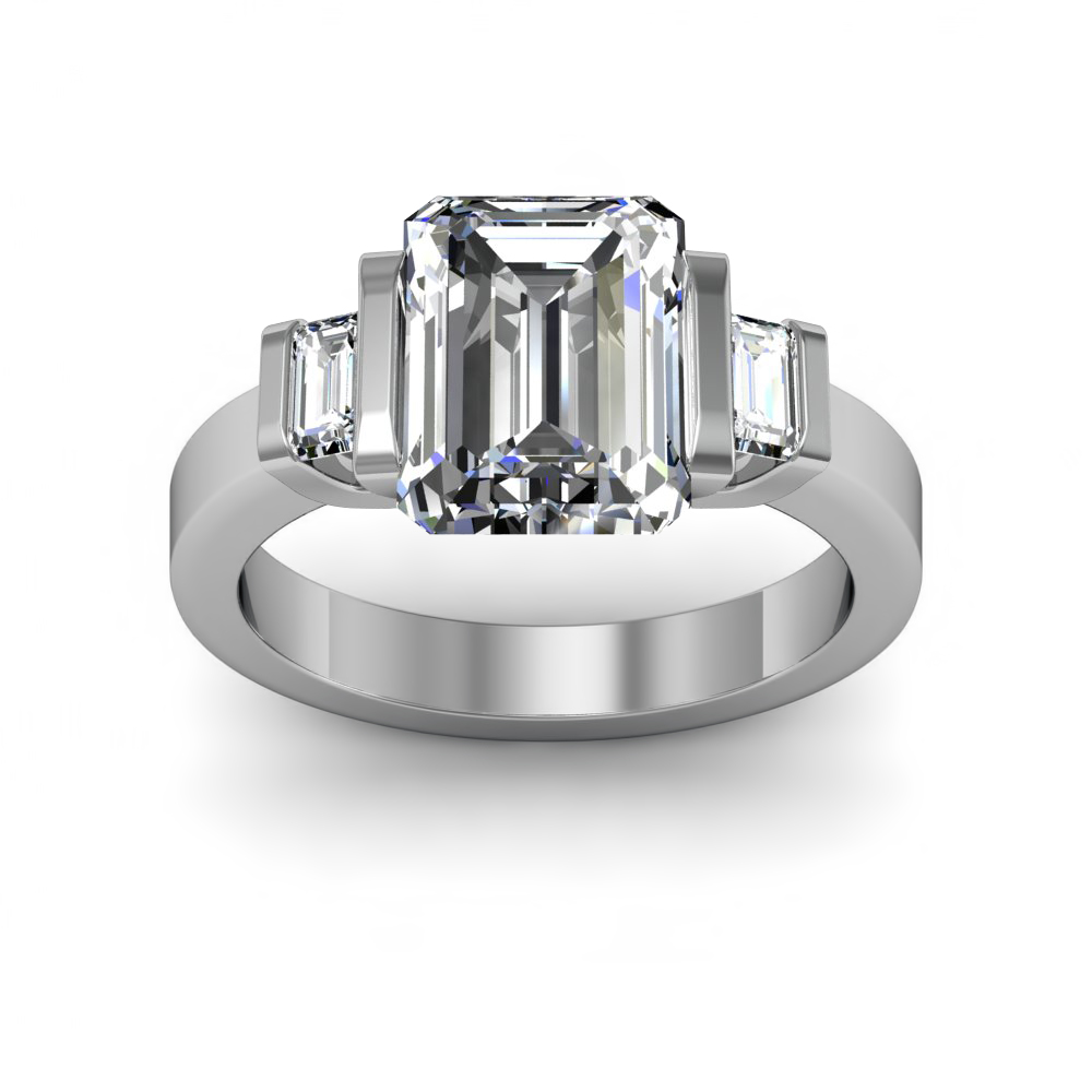 how to make an emerald cut setting