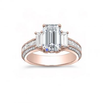 Euro Shank Rose Gold Engagement Rings