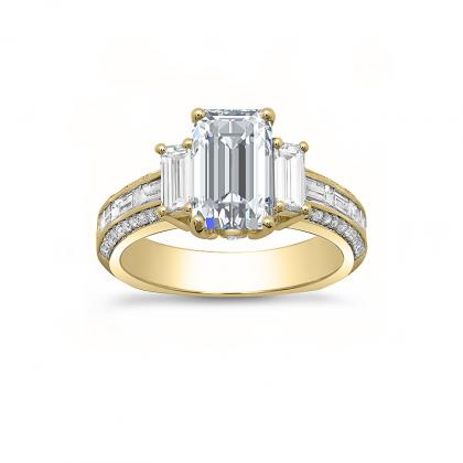 Euro Shank Yellow Gold Engagement Rings