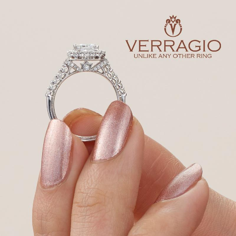 Oval Verragio Renaissance Diamond Engagement Ring