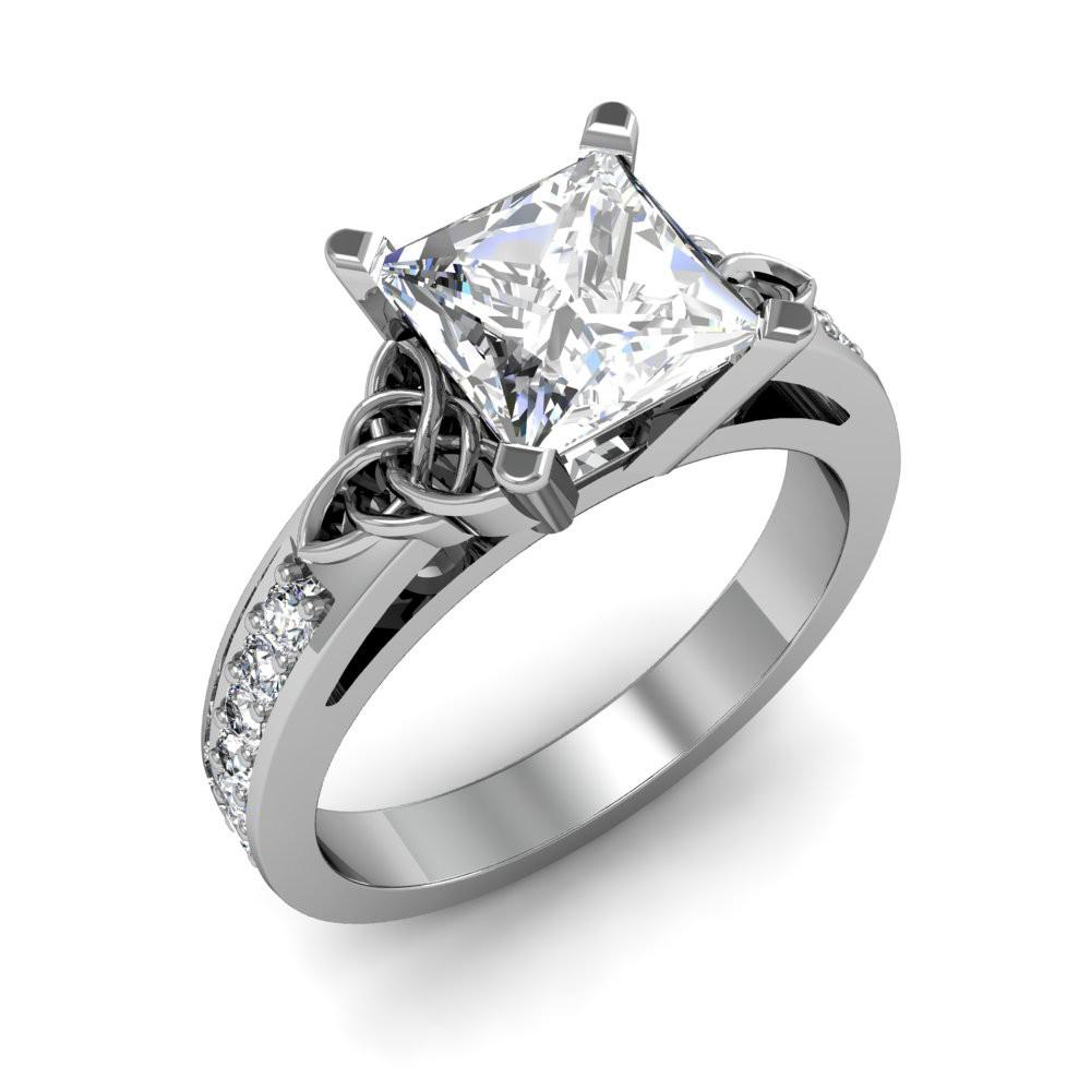 Celtic Engagement Wedding Ring Triquetra Irish