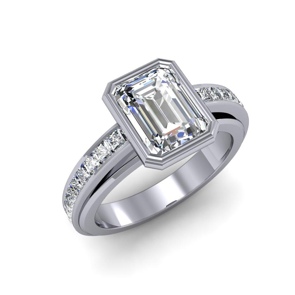 ring settings emerald ring settings bezel box