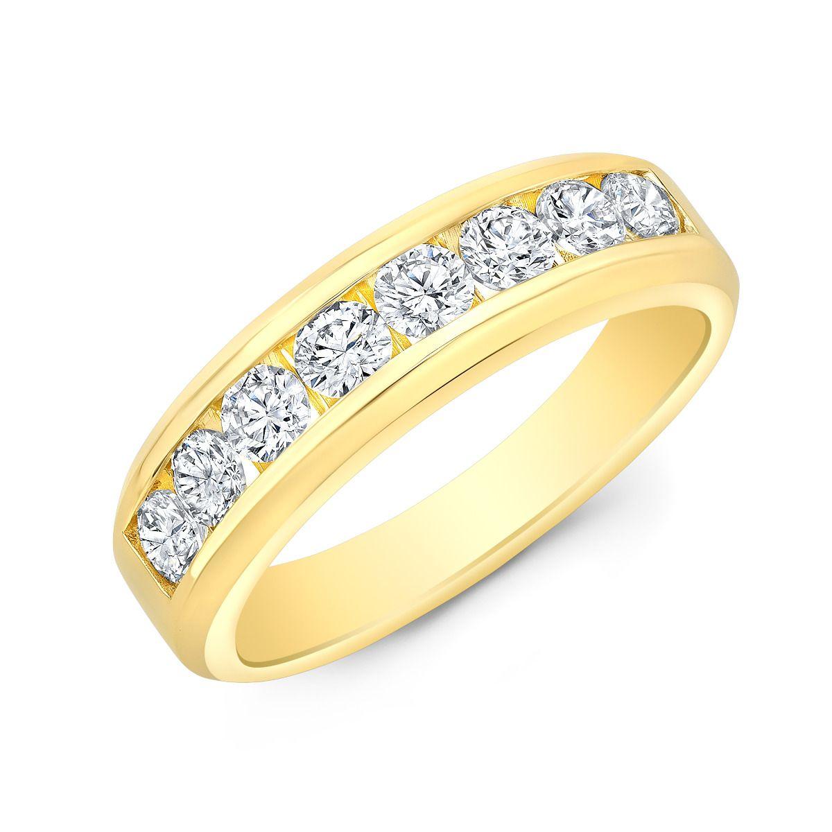 1.50 Carat Round Channel Set Men's Diamond Wedding Band