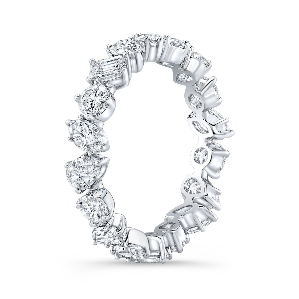 1.80 Carats Mixed Shaped Diamond Eternity Band