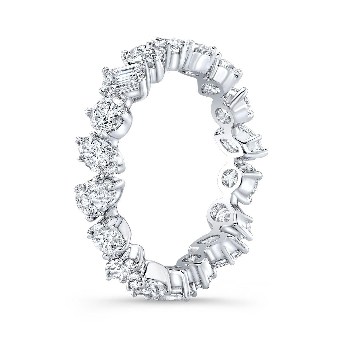 2.80 Carats Mixed Shaped Diamond Eternity Band
