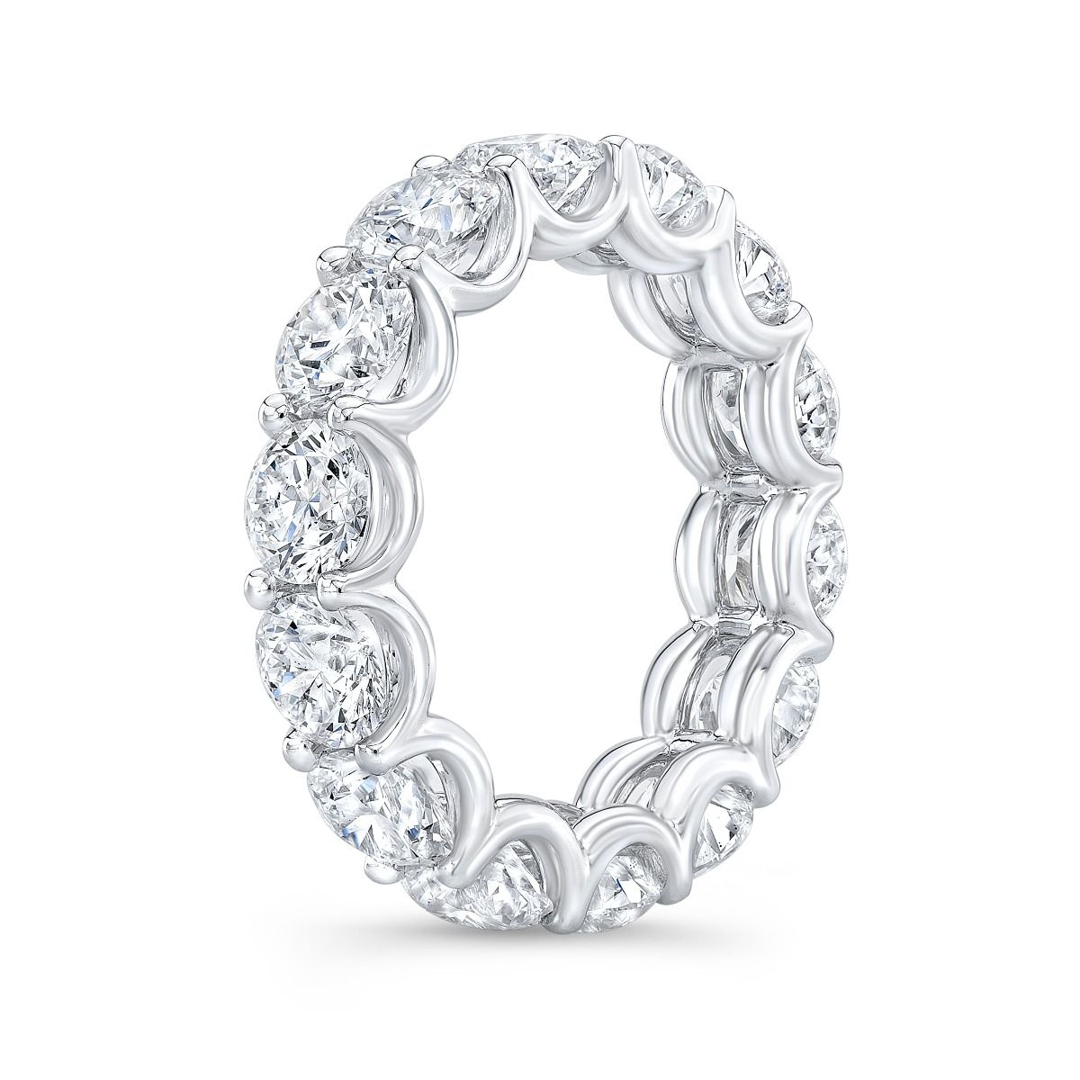 7 Carat Ladies Eternity Ring With Round Cut Diamonds GIA Certified