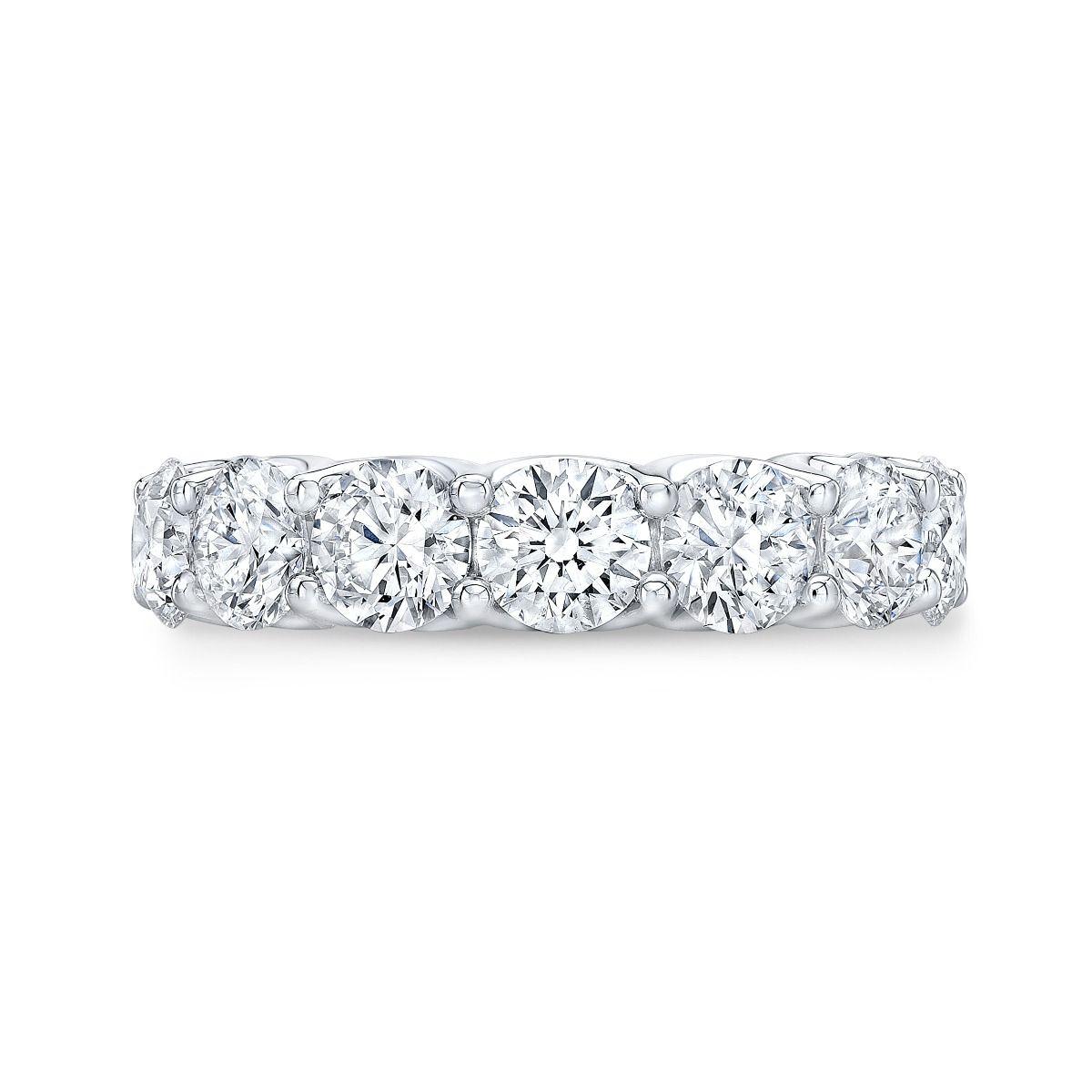Round Cut Women's Eternity Ring In Platinum