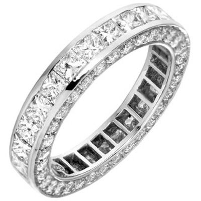 4.50ctw Princess Channel Natural Diamonds Eternity Ring