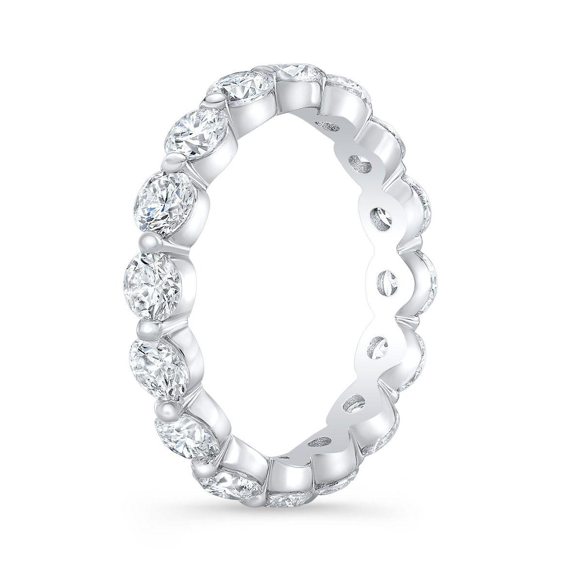 Floating Eternity Ring Single Prong