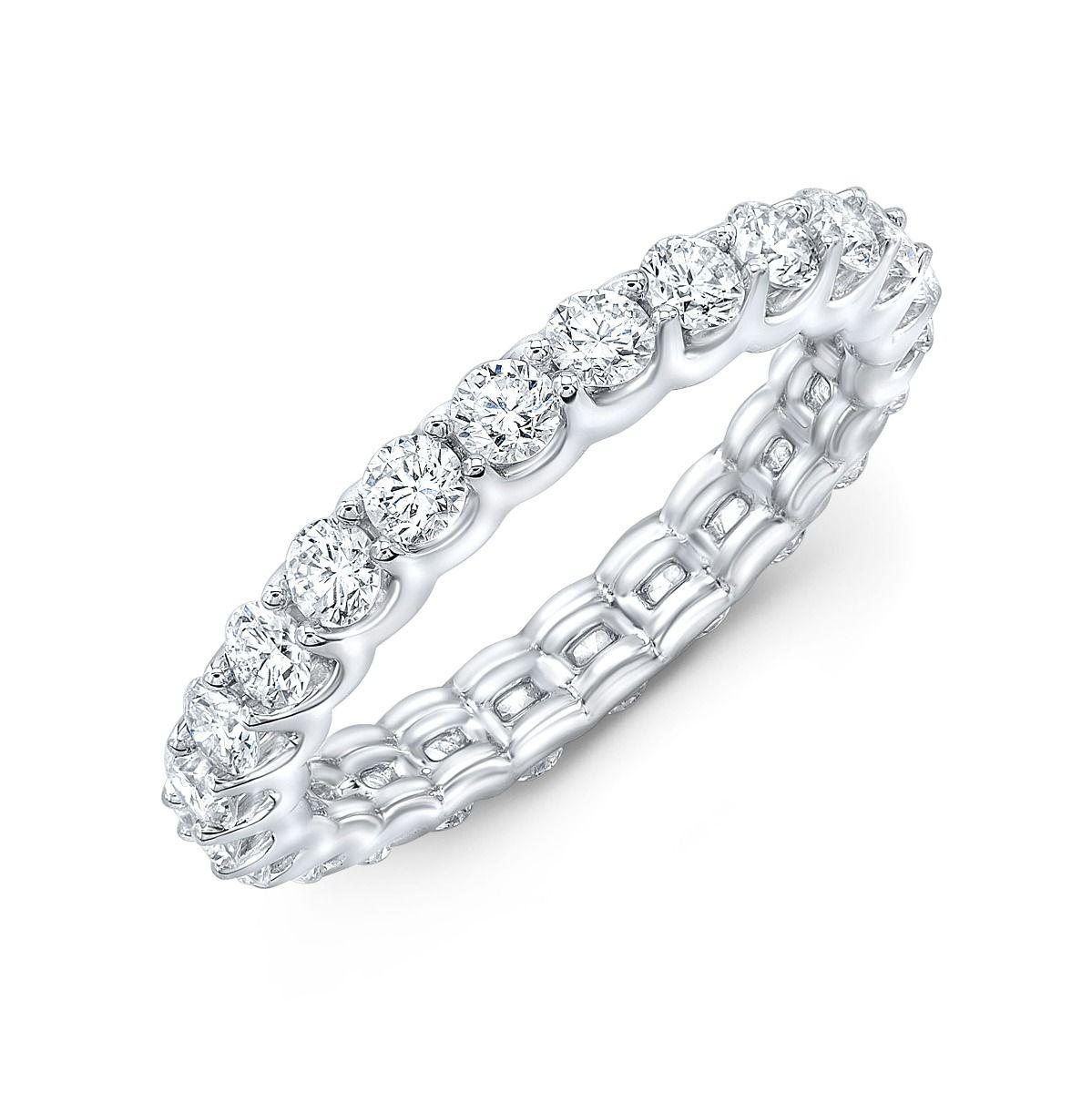1.2 Carat Round Diamond Eternity Band With u-setting design