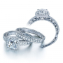 Verragio Halo Antique Infinity Venetian Pave Engagement Ring