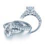 Art Deco Shared Prong Verragio Venetian Engagement Ring