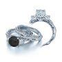 Verragio Three Stone Venetian Antique Engagement Ring