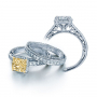 Halo Pave Venetian Verragio Vintage Engagement Ring