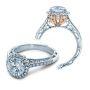 Verragio Venetian Halo Two-tone Natural Diamond Engagement Ring