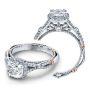 Verragio Parisian Halo Pave Infinity Shank Designer Engagement Ring