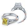 Verragio Parisian Halo Pave Infinity Accent Designer Engagement Ring