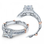 Verragio Parisian Pave Halo Split Shank Designer Engagement Ring