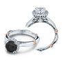 Verragio Parisian Pave Accent Halo Designer Engagement Ring