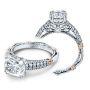Verragio Parisian Two Row Pave Designer Engagement Ring