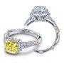 Verragio Parisian Pave Halo Side Profile Designer Engagement Ring