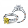 Verragio Parisian Three Stone Bar Set Designer Engagement Ring