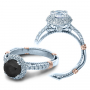 Verragio Parisian Micro Pave Halo Designer Engagement Ring