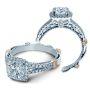 Verragio Parisian Split Shank Halo Designer Engagement Ring