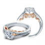 Two Toned Split Shank Verragio Diamond Engagement Ring