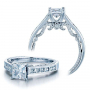 Channel set Verragio Insignia Natural Diamond Engagement Ring