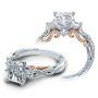 Verragio Insignia 3 Stone Infinity Pave Designer Engagement Ring